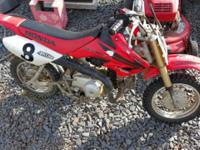 50cc 3 speed runs good. Sell for 800 cash or will trade