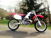 Honda Dirt Bike CR250R 1996 Engine has about 8 hours on