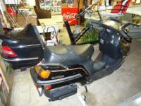 Honda Elite CH250, 1987 and Motorcycle Hauler, Runs