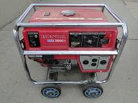 Honda EM3500X Gas Powered Portable Generator on Wheels