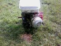 honda 7.0 hp engine .has 44 hrs on it. its a little