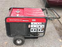Honda Model ES6500 Generator is in great condition and