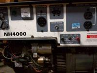 Honda NH4000 Generator. Pull or key start. Electronic