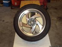 HONDA GL1800 WHEEL & TIRE. THE WHEEL IS IN VERY GOOD
