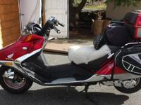 1986 Honda Helix CN250 Scooter 15000 miles. Very well