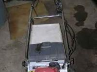 "SELF PROPELLED HONDA 24""? LAWN MOWER WITH BAG. NEEDS A"