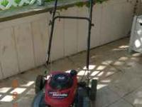 "21"" cut mulching lawn mower with a Honda 5.5 engine."