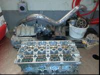Honda H22A1 Cylinder head with intake, exhaust, and
