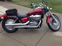 2008 Honda VT750C2 Shadow Spirit 750. This bike has