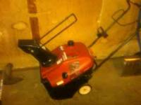 I have a 1 year old Honda Snowblower that I used maybe