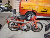 Honda Trail CT90 for sale for parts. Motor is taken and