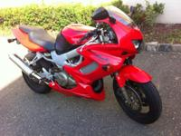 Im selling my red 2002 Honda VTR1000 Adult possessed.