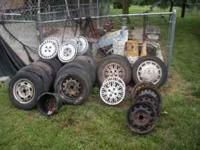For sale: Honda wheels, rims, and some good tires.