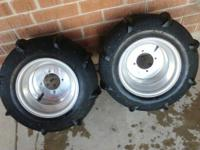 I have a set of Skat Trak Haulers on Douglas Rims. They