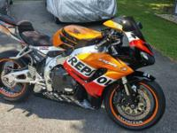 For Sale is my Honda CBR 1000 RR Fireblade Repsol clone