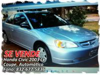 HONDA CIVIC COUPE 2003, SILVER, AUTOMATIC, 210,000