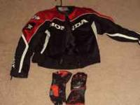 Small Honda Joe Rocket jacket with gloves for a female.