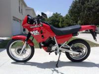 HONDA NX250 IN RARE RED DUAL SPORT FOR SALE * SUPER