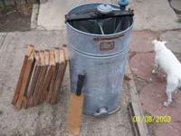Three frame hand crank Root Honey extractor. It was