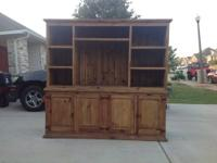 This is a Honey Rustic TV Hutch. Most of the