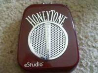 "ive got a Honey tone ""pocket"" amp, plug in some"