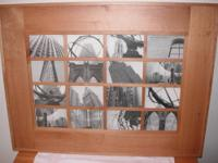 Honey Color Wood Collage Picture Frames, 2 available