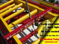 www.hookumdano.com Designed to lock down 1 or 2 ladders