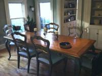 Hooker Funiture Dining Table with 6 chairs. From the