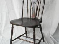 VINTAGE HOOP BACK SIDE CHAIR Authentic ca 1930 hoop