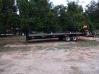 8 x 25 HOOPER GOOSE NECK TRAILER---NEW--LIST 7995.00