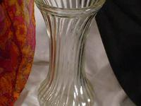 Vase clear swirl glass Hoosier. Marked 4083 Hoosier
