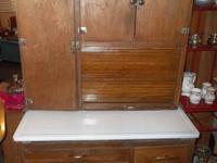 Hoosier vintage oak kitchen area cabinet available for