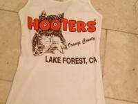 Hooters White Tank Top Size Small Orange Shorts Size