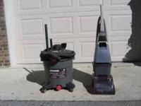 Hoover wet and dry vac and Hoover carpet cleaner,both