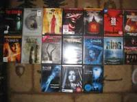 I have 17 horror DVD's for sale I am selling for $3.00