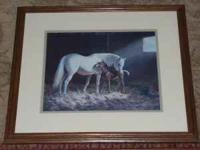 Small artwork of a Horse and her Foal. call or text