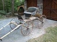 Antique Dr's style horse buggy. A piece of early