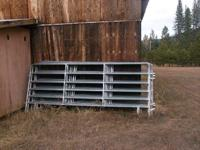 Excellent condition galvanized heavy duty horse corral
