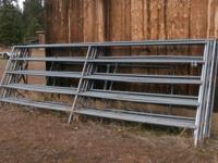 heavy duty 16 foot by 6 foot high horse corral panels.