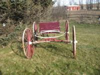 Horses no longer with us, so the buggy is for sale. We