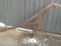 Hello,  We are selling an antique horse drawn plow that