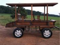 New 2 horse wagon 4 wheel hydraulic brakes nice and