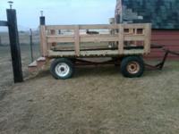 New people hauler. Never used. All green treated lumber