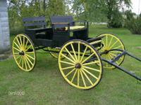 HORSE DRAWN WAGON. WAGON BOX IS 8 FT LONG AND 3 FT