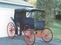 Completely restored horse-drawn carriage! Two double