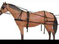 Black Leather Horse Harness Cob Size, Leather Nice &