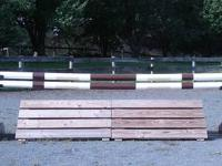 Jump Sets For Sale 1. Set of oxer standards unpainted