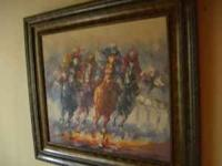 "AWSOME IMPRESSIONIST OIL PAINTING OF THE ""PACK"" COMMING"