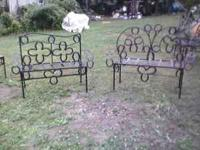THESE ARE ONE OF A KIND BENCHES, TABLES AND CHAIRS. NO