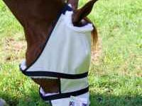 We have designed 90% UV proof shades for horses with